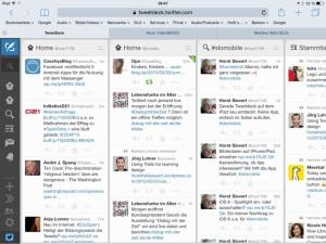 TweetDeck mit Safari auf iPad