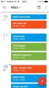 iPhone: App Google-Kalender