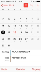 iPhone: Kalender vertikal