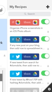 Screenshot iOS-App IF by IFTTT