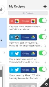 Screenshot iOS-App IF by IFTTT