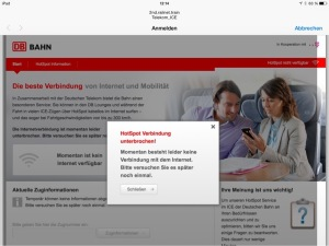 Screenshot vom iPad