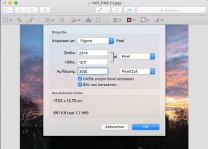 Screenshot Vorschau Mac, Foto Horst Sievert