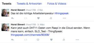Automatische Tweets (Screenshot Horst Sievert)