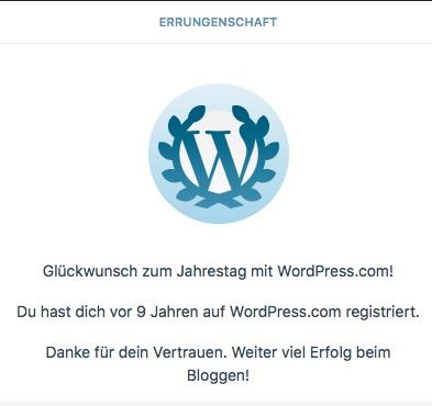 9 Jahre WordPress