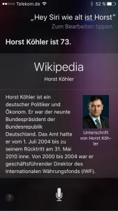 Screenshot Siri, iPhone, Foto HoSi