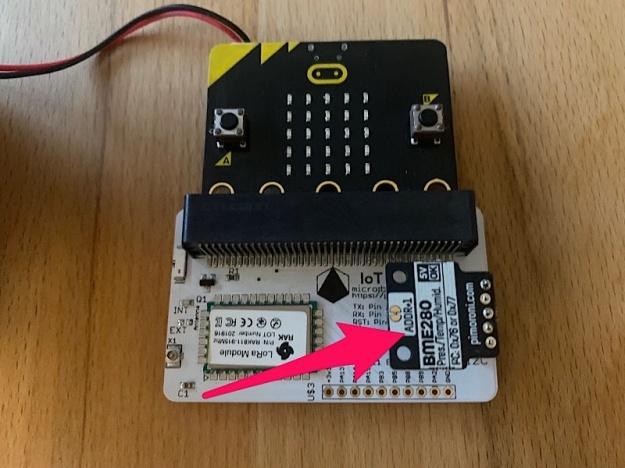 micro:bit, LoRa Node und Sensor BME280