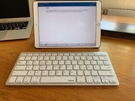 IPad mit externer Tastatur