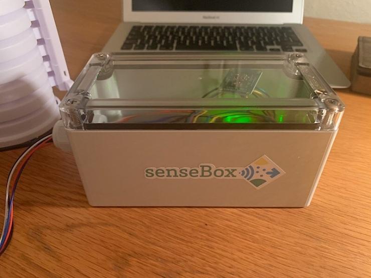 Teil einer Wetterstation mit der senseBox
