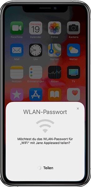 WLAN-Passwort teilen