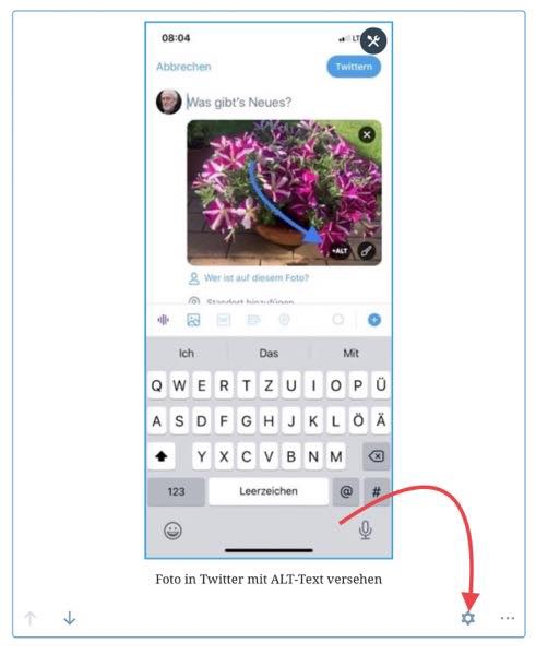 Screenshot, ALT-Text bei WordPress